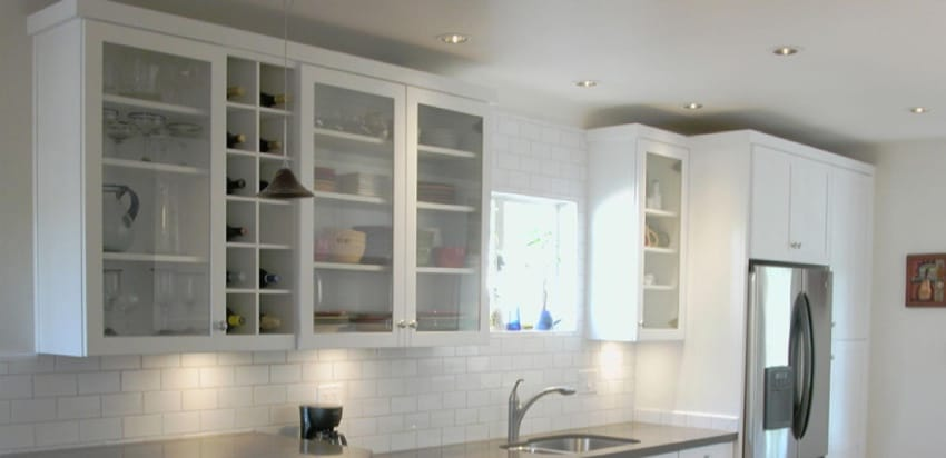 How To Add Glass To Kitchen Cabinet Doors Glass Doctor
