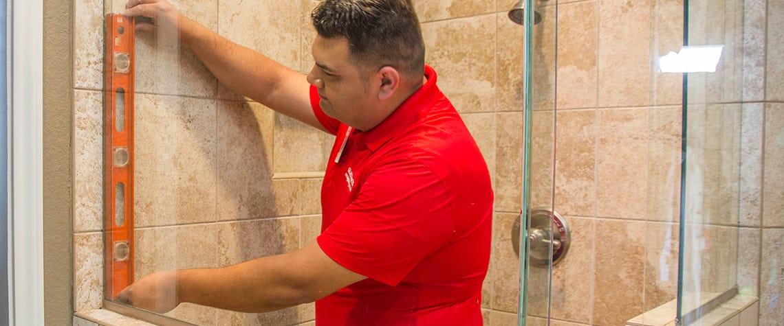 Glass Doctor of Calgary shower door installation
