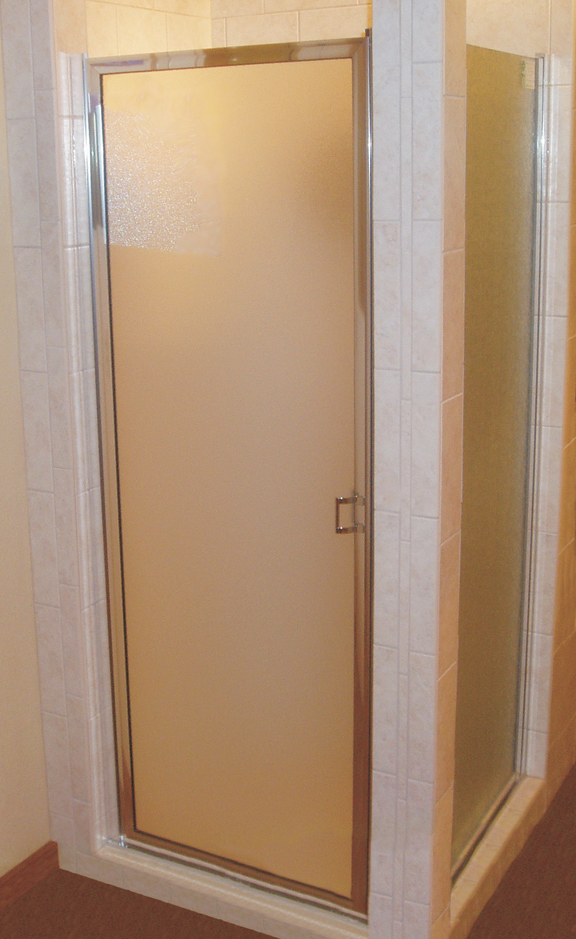 basic shower door with privacy glass
