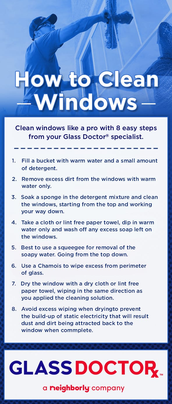 How to Clean Windows Infographic
