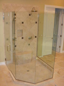 stand alone frameless shower enclosure