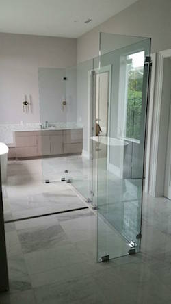 heavy glass shower divider