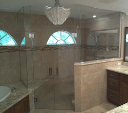 double swing door shower enclosure