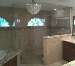 double swing door shower enclosure