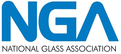 National Glass Association logo in blue with white background