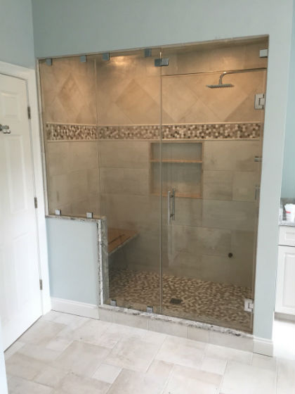 Steam Room with Above Door Transom