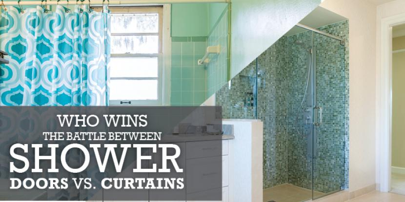 Who Wins in the Battle Between Shower Doors and Shower Curtains?