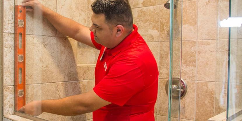 Glass Doctor of Saskatoon shower door installation