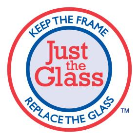 Keep the frame, replace the glass.