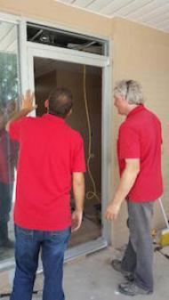 Glass Doctor of Tulsa technicians handling door closers