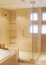 rectangle shower enclosure with frameless glass