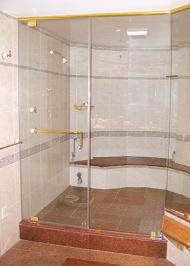 wall frameless heavy glass shower enclosure